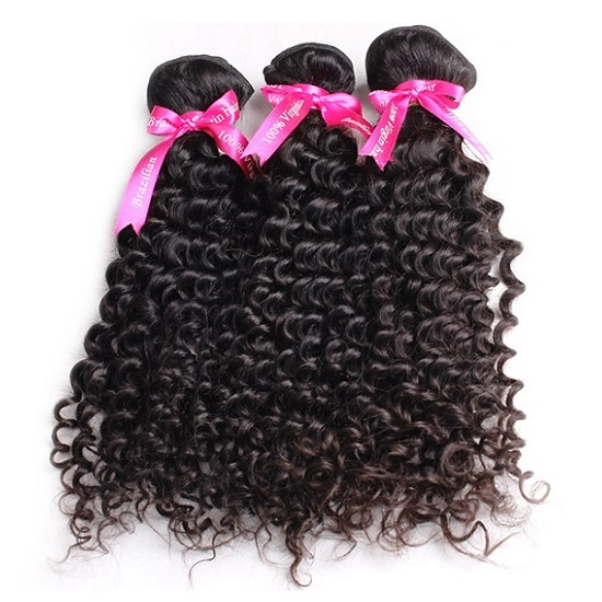 Natural Curly Human Hair Weave