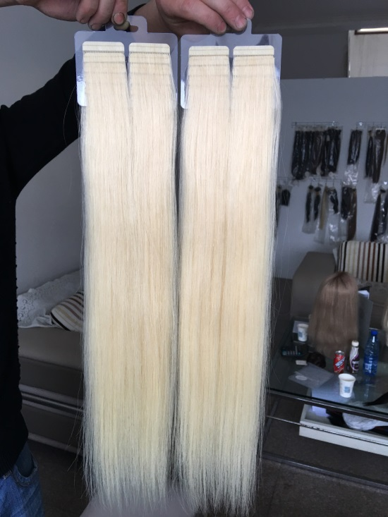Best #613 Double Drawn Virgin Tape In Hair Extensions