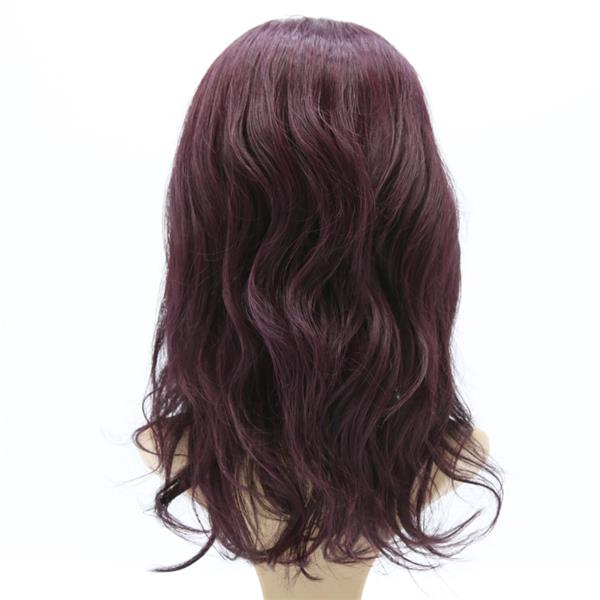 "#Purple 12"" Body Wave Best Human Hair Front Lace Wig"