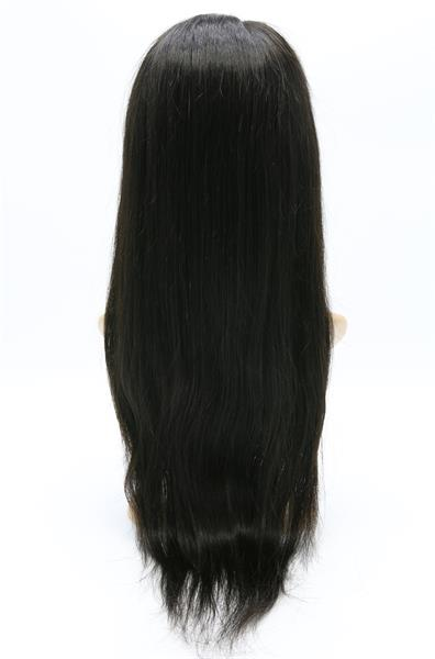 "#Natural Black 20"" Straight Best Human Hair Front Lace Wig"