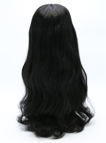 "#Natural Black 20"" Wavy Best Human Hair Front Lace Wig"