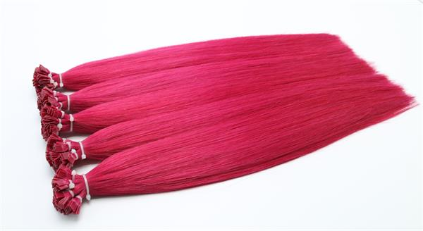#Red Flat-Tip  Fusion Hair Extensions