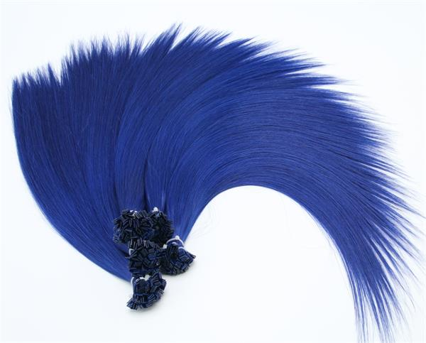 #Blue Flat Tip Fusion Hair Extensions