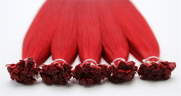 #Fuxia Flat Tip Hair Extensions
