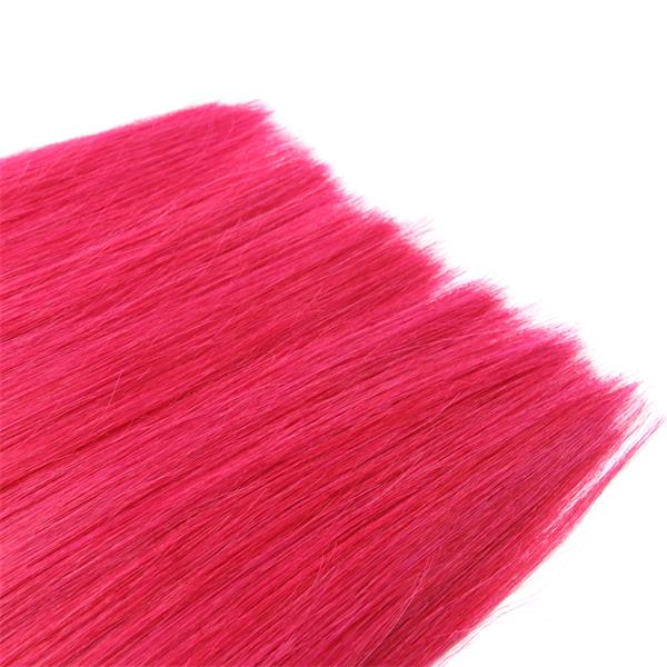 #Red Flat Tip Fusion Hair Extensions