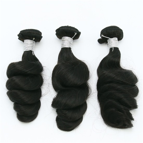 Brazilian Hair Extensions Bundles 7A Loose Wave Thick End