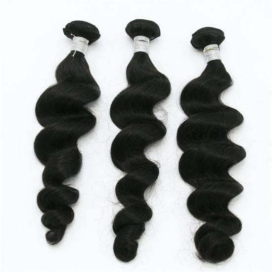 Brazilian Hair Extensions Bundles 7A Loose Curly Thick End